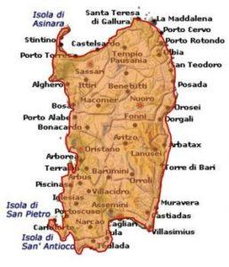 Vermentino di Sardegna DOC area