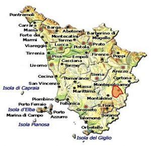 Vino Nobile di Montepulciano DOCG area