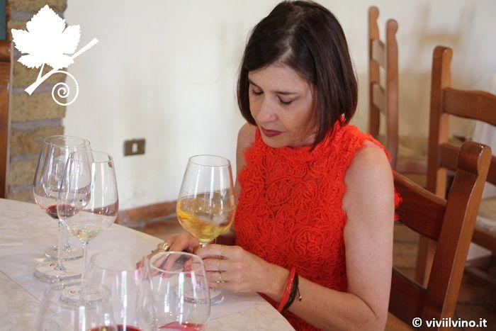 villa matilde - Maria Ida Avallone durante la degustazione