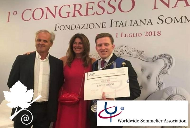 Eros Taboni miglior sommelier del Mondo WSA 2018