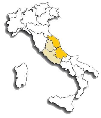 Pecorino - area di diffusione