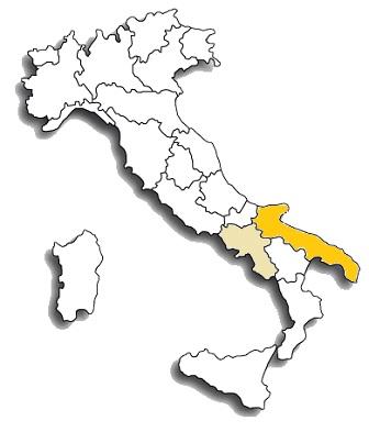 nero di troia (uva di troia) - area di diffusione