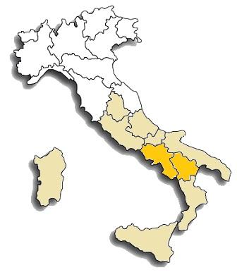 Aglianico - area di diffusione