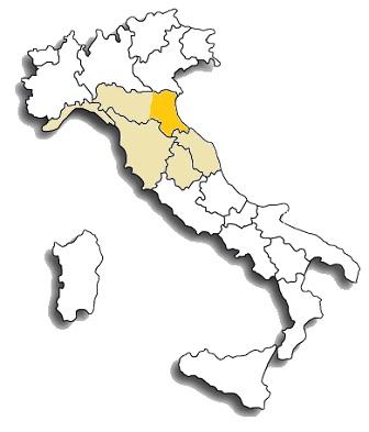 Albana - area di diffusione del vitigno