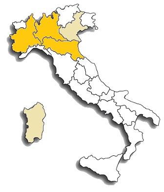 croatina - area di diffusione del vitigno