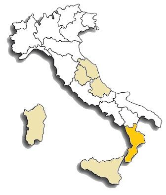 gaglioppo - area di diffusione del vitigno