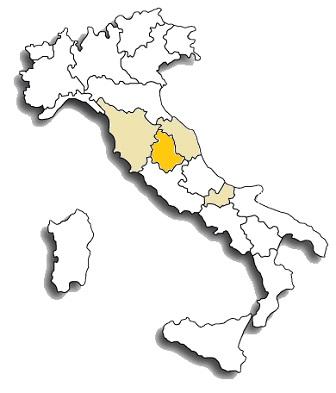 Sagrantino - area di diffusione del vitigno