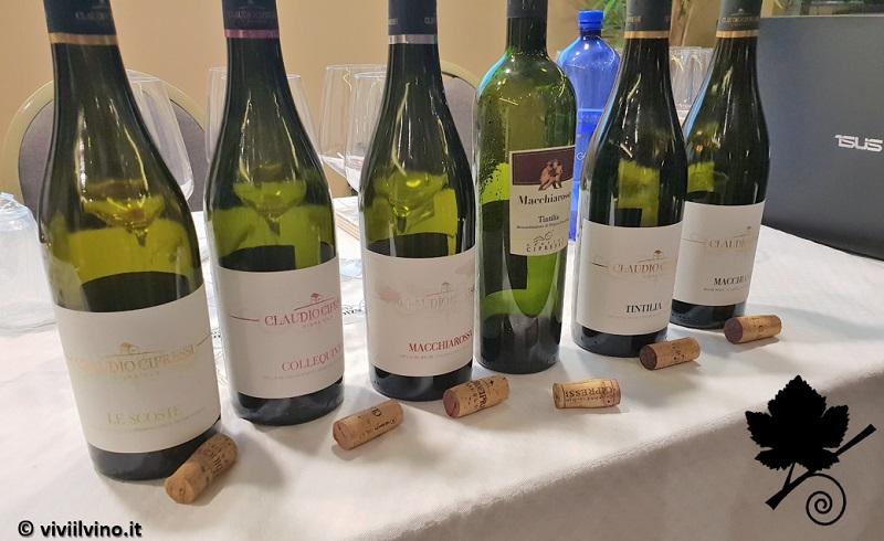 Claudio Cipressi - i 6 vini in degustazione