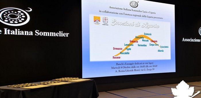 Emozioni di Liguria - AIS LAZIO inaugurazione anno sociale 2019-2020