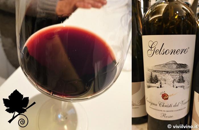 I vini del Vesuvio - Lacryma Christi del Vesuvio DOC Rosso 2014 - Gelsonero - Villa Dora