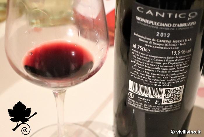 Montepulciano d'Abruzzo DOC Cantico Cantine Mucci 2012