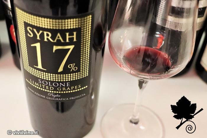 Puglia IGT Syrah 17% Solone Limited grapes Tanaro