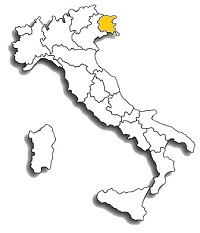 Schioppettino - area di diffusione del vitigno