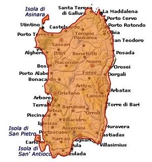 Isola dei Nuraghi IGT mappa