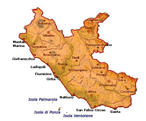 Lazio IGT - area