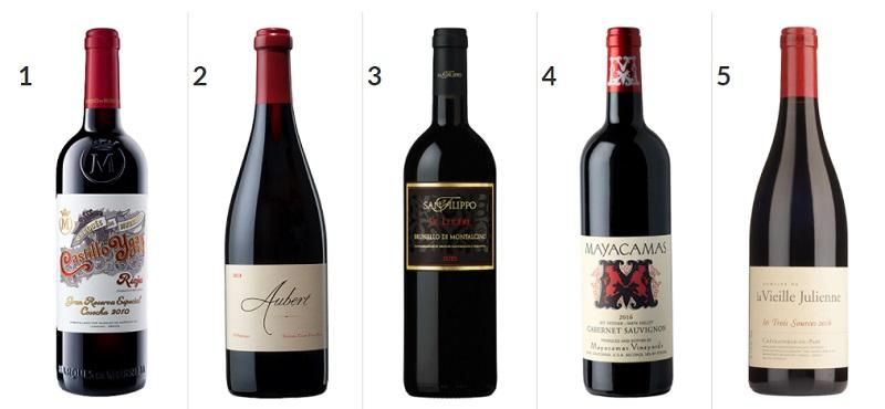 Wine Spectator 2020 - i primi 5 vini classificati
