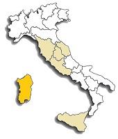 Carignano - area di diffusione del vitigno
