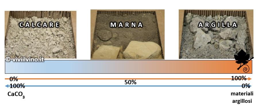 Influenza del suolo nel vino - terreni calcarei, marnosi e argillosi 2