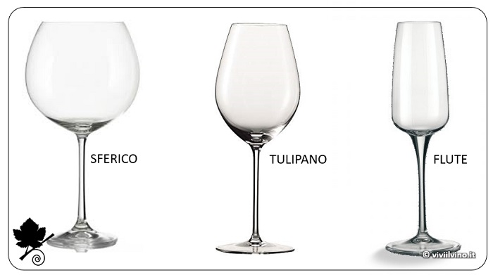 Calice sferico, tulipano, flute