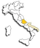 Cococciola - area di diffusione del vitigno