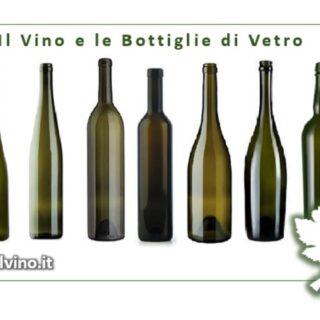 Il Vino e le bottiglie di vetro