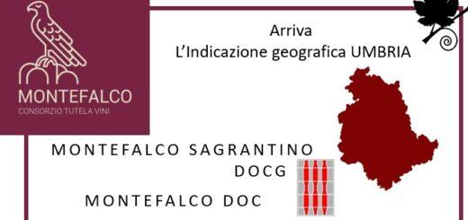 Indicazione geografica Umbria per Montefalco Sagrantino DOCG e Montefalco DOC