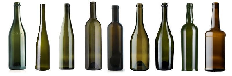 Le forme delle bottiglie di vino